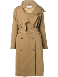 Closed Belted Double Breasted Coat Neutrals