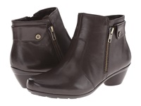 Naturalizer Haley Oxford Brown Leather Women's Zip Boots