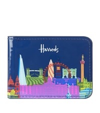 Harrods Bright Skyline Travel Card Holder Unisex