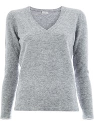 Maison Ullens V Neck Sweater Grey