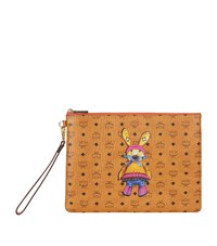 Mcm Rabbit Motif Medium Ipad Case Female Cognac