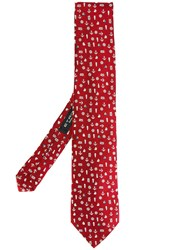 Etro Nautical Pattern Tie Red