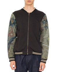 Dries Van Noten Homage Bis Zip Front Bomber Jacket Black