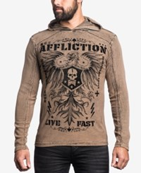 Affliction Men's Graphic Print Hoodie Black Sand