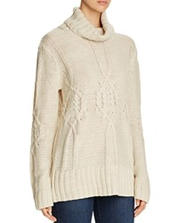 B Collection By Bobeau Cable Knit Sweater Ivory