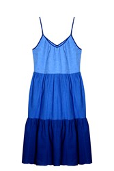Mih Jeans Tiered Dress Blue