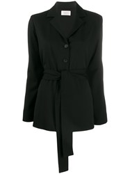 The Row Mel Belted Jacket Black