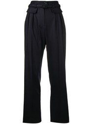 A.P.C. High Waist Tailored Trousers Blue