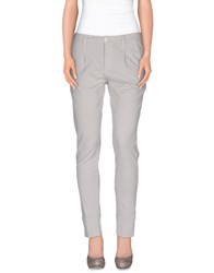 European Culture Trousers Casual Trousers Women Light Grey