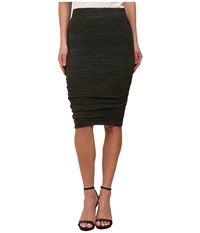 Splendid Rouched Pencil Skirt Olive Women's Skirt