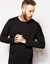 Asos Long Sleeve T Shirt In Batwing Fit Black