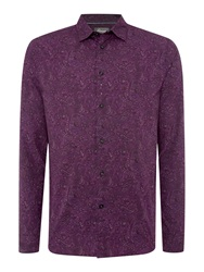 Linea Henderson Long Sleeve Paisley Shirt Purple