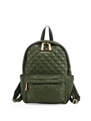 M Z Wallace Oxford Small Metro Quilted Nylon Backpack Green