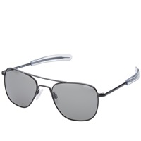 Randolph Engineering Aviator Sunglasses Matte Black And Grey