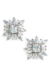 Women's Cz By Kenneth Jay Lane 'Starburst' Cubic Zirconia Stud Earrings