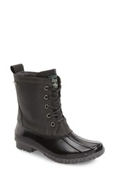 G.H. Bass Women's And Co. Daisy Waterproof Duck Boot Dark Grey Black Leather