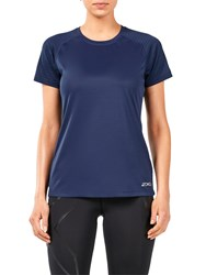 2Xu Xvent Short Sleeve Top Navy