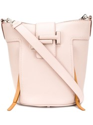 Tod's Shoulder Bucket Bag Pink