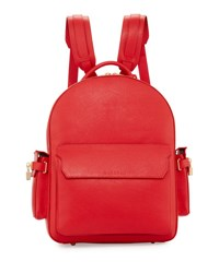 Buscemi Phd Men's Leather Backpack Red