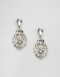 Johnny Loves Rosie Statement Gem Earrings Crystal Clear