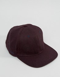Ted Baker Baseball Cap In Wool Red