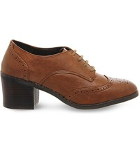 Office Quantum Brogue Ankle Boots Tan