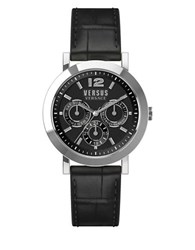 Versus By Versace Manhasset Leather Strap Bracelet Watch Black