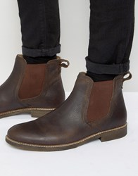 Red Tape Chelsea Boots In Brown Leather Brown
