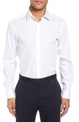 Duchamp 'S Big And Tall Trim Fit Solid Dress Shirt White