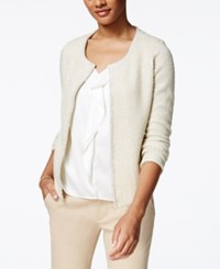 Charter Club Petite Textured Metallic Cardigan Only At Macy's Vintage Cream