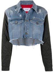 Givenchy Quilted Sleeve Denim Jacket 60