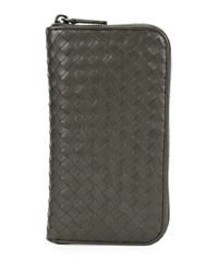 Bottega Veneta Continental Zip Around Wallet New Light Grey
