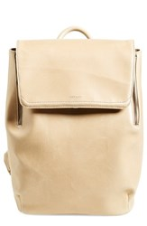 Matt And Nat 'Fabi' Faux Leather Laptop Backpack Beige Cardamom