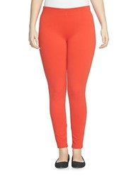 Chaus Solid Ponte Leggings Red