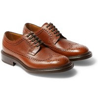 O'keeffe Felix Pebble Grain Leather Wingtip Brogues Tan