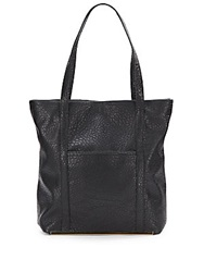 Saks Fifth Avenue Jefferson Faux Leather Tote Black