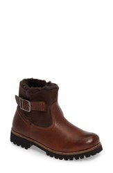 Blackstone Women's Ol06 Genuine Shearling Lined Bootie Brown Leather