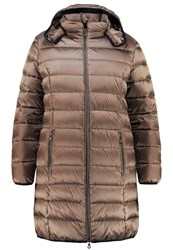 Open End Down Coat Nougat Brown