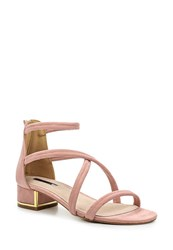 Lost Ink Marissa Strappy Heeeled Tube Sandals Pink