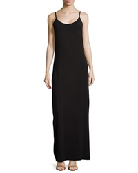 Splendid Side Slit Sleeveless Maxi Dress Black
