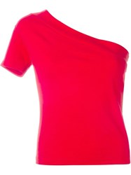 Jacquemus One Shoulder Top Red
