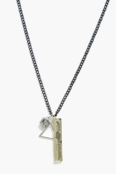 Boohoo Charm Necklace Silver