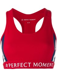 Perfect Moment Racerback Sports Bra Red
