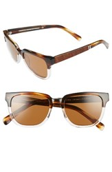 Shwood Women's 'Prescott' 52Mm Polarized Acetate And Wood Sunglasses