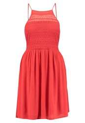 Evenandodd Summer Dress Red