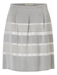 Betty Barclay Striped Satin Finish Skirt Grey