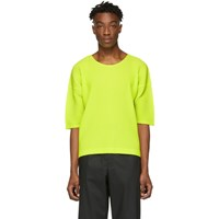 Homme Plisse Issey Miyake Yellow Mc March T Shirt