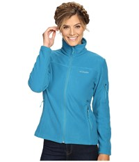 Columbia Fast Trek Ii Full Zip Fleece Jacket Deep Marine Women's Coat Blue