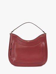 Jaeger Leather Hobo Bag Red