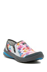 Bzees Lifetime Floral Slip On Sneaker Wide Width Available White